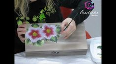 Decorazione di una scatola con la Tecnica One StrokePainting by Marzia D...