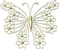 Artes da Nique: Riscos borboletas e flores