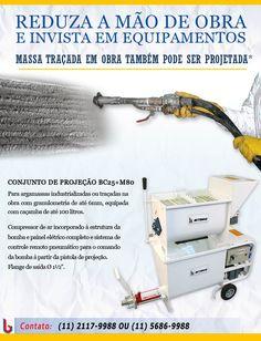 Para argamassas industrializadas ou traçadas na obra com granulometria de até 6mm, equipada com caçamba de até 100 litros.
