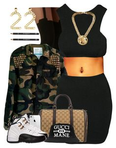 """""""unknown"""" by nasiaswaggedout ❤ liked on Polyvore featuring Pretty Polly, AQ/AQ, Gucci and Givenchy"""