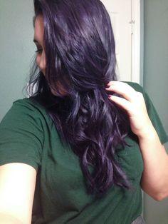 Manic panic ultra violet mixed with manic panic purple haze over light brown hair