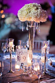 Elegant Purple & White Florida Wedding