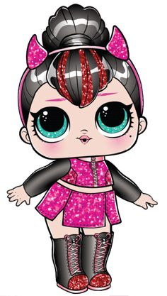 LOL Surprise Glitter Spice Kawaii 365, Chibi Kawaii, Kawaii Doodles, Lol Doll Cake, Glam And Glitter, Paper Dolls Printable, Doll Party, Lol Dolls, Cute Cartoon