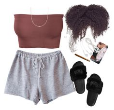 A fashion look from February 2017 featuring Clu shorts and Ross-Simons necklaces. Browse and shop related looks. Swag Outfits For Girls, Cute Lazy Outfits, Chill Outfits, Cute Casual Outfits, Teen Fashion Outfits, Teenager Outfits, Dope Outfits, Summer Outfits, Stylish Outfits