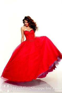 Paparazzi by Mori Lee Prom Dress 93033 #red #promdresses #ballgown