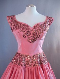 50s     1950s Emma Domb evening gown