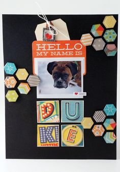Layout made with the #epiphanycrafts Shape Studio Tool Hexagon available at #archivers stores. www.epiphanycrafts.com #scrapbook #octoberafternoon