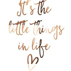 it's the little things in life | quote @thebeautybravado