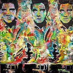 Elvis Presley Canvas Painting by Matt Pecson Original Oil Painting 36x36 Large Wall Art Urban Art Andy Warhol Contemporary Pop Art Painting