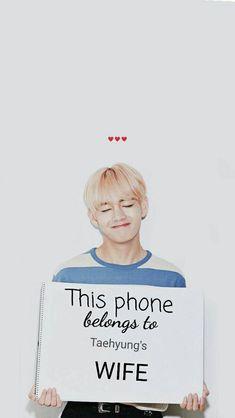 For taehyung Stan's K Pop, Bts Taehyung, Jimin, Foto Bts, V Bts Cute, Dont Touch My Phone Wallpapers, V Bts Wallpaper, Bts Wallpaper Iphone Taehyung, Scary Wallpaper