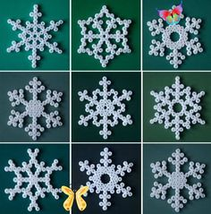 Christmassoonn Christmas crafts – Henry Craft Jewels   - Christmas Crafts #christmas #christmas decorations #christmas crafts<br> Hama Beads Minecraft, Perler Beads, Art Minecraft, Skins Minecraft, Hama Perler, Simple Snowflake, Snowflake Craft, Snowflake Decorations, Snowflake Ornaments