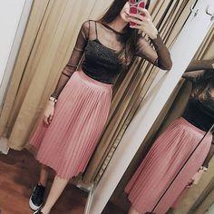 #achadinhos na C&A - saia plissada rosa