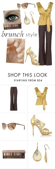 """""""Mother's Day brunch"""" by leni-ls ❤ liked on Polyvore featuring Olsen, SCERVINO STREET, Tom Ford, Oscar de la Renta, Urban Decay, Argento Vivo and MothersDayBrunch"""