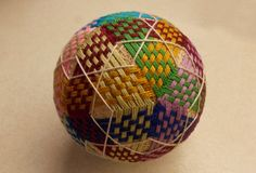 Carefully woven Japanese Temari ball. Just right for a first buy batch of Temari balls! The stitching on this one is just incredible and it makes the entire ...