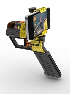 iPhones aren't cool. You know what's cool?Shooting your friendswith your iPhone, mounted into a laser blaster.