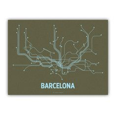 Barcelona Screenprint Olive, $24, now featured on Fab.
