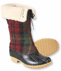 Tartan Wool Boots from LLBean. Wouldn't they make great winter barn boots? @Dianne MacDonald