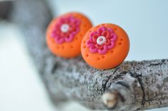 Polymer Clay Earrings Polymer jewelry Polymer clay by CraftStocks, $9.99