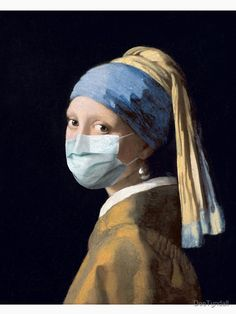 """Coronavirus Girl with a Pearl Earring"" T-shirt by DeeTyndall | Redbubble Famous Art Paintings, Modern Art Paintings, Girl With Pearl Earring, Art Photography Portrait, Dutch Golden Age, Modern Art Deco, Aesthetic Art, Pop Art, Contemporary Art"