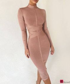 Shiny Wrinkle Outlet Deep V Neck Bodycon Dress Sexy Dresses, Casual Dresses, Fashion Dresses, Women's Fashion, Elegant Dresses, Fashion Shops, Fashion Jewelry, Fashion Blouses, Office Fashion