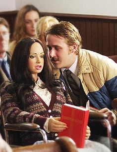 Ryan Gosling with Bianca the movie star doll. I love Lars and the Real Girl.