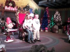 My grandchildren with Santa at Silver Dollar City