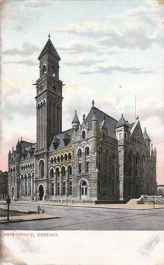 Detroit, USA - Post Office, unposted c1906