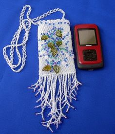 BEAUTIFUL BEADED AMULET BAG...by SERENITY COLLECTIONS
