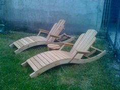 Chadarondack Chaise  Adarondack Reclining Deck by PagodaStudios