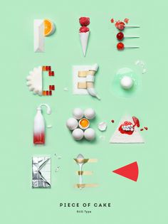 Delicious-Looking Letters Formed With Lollipops, Cake, Ice-Cream - DesignTAXI.com
