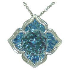Blue Topaz Pendant (DaVinchi Cut) in 14 kw https://www.goldinart.com/shop/necklaces/colored-gemstones-necklaces/blue-topaz-pendant-davinchi-cut-in-14-kw