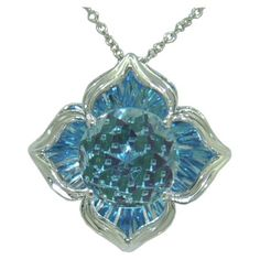 Blue Topaz Pendant (DaVinchi Cut) in 14 kw https://www.goldinart.com/shop/necklaces/colored-gemstones-necklaces/blue-topaz-pendant-davinchi-cut-in-14-kw