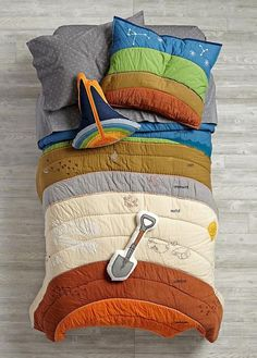 "Geologist themed bedding? Yes please. Then I could really say ""I slept like a rock!"" bedding:"