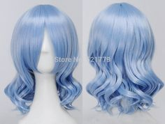 Project Remilia Scarlet Short Ice Blue Curly Cosplay Wavy Wig-in Wigs from Beauty & Health on Aliexpress.com | Alibaba Group