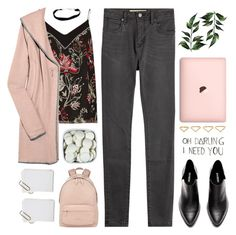 """Untitled #1033"" by chantellehofland ❤ liked on Polyvore featuring River Island, Burberry, Lounge Lover, Ana Khouri, INDIE HAIR and Givenchy"