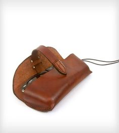 Leather Glasses Case | This handsome leather case keeps your glasses protected and se... | Sunglasses