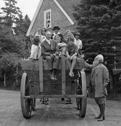 Portrait of the Bell family and friends on Cape Breton Island in Nova Scotia, 1922.Photograph by Charles Martin, National Geographic