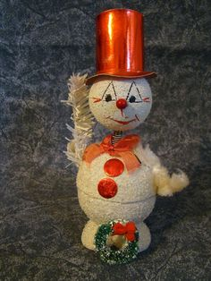 Vintage Snowman Bobble Head Candy Holder Western Germany | eBay German Christmas, Christmas Past, Merry Christmas And Happy New Year, Retro Christmas, Christmas Candy, Christmas Snowman, Christmas Stuff, Christmas Tree Ornaments, Christmas Holidays