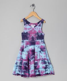 Take a look at this Blue & Pink Madison Dress - Girls by Out of Control on #zulily today!