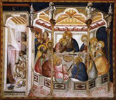 Pietro Lorenzetti,Last Supper, fresco, lower basilica at Assisi, 1310-1320
