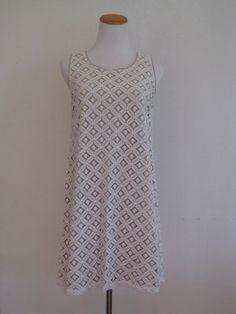 Apt 9 Lace 60's Mod Shift Dress L