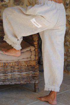 Un panty en lin Avec des poches (ou sans)et des petits détails