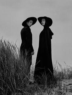 Black and white fashion photography by Munich, Germany based freelance photographer Elizaveta Porodina.