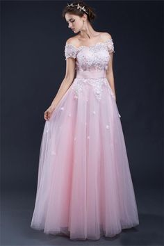 Cheap prom dresses Buy Quality prom dresses directly from China tulle prom dress Suppliers: Real Photo A line Appliques Beading Crystal Tulle Prom Dresses 2017 Off the Shoulder Vestido De Festa Long Party Gowns Colored Wedding Dress, Pink Wedding Dresses, Prom Dresses 2017, Tulle Prom Dress, Lace Evening Dresses, Long Bridesmaid Dresses, Cheap Prom Dresses, Pink Dress, Prom Gowns