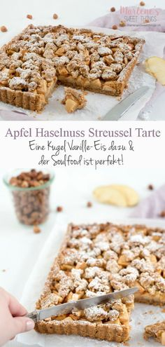 Die Apfel Haselnuss Streusel Tarte schmeckt nach F… Grandma's recipes are the best. The apple hazelnut crumble tart tastes of family and love. The cake is child's play to bake. Tart Recipes, Easy Cake Recipes, Cupcake Recipes, Cookie Recipes, Grandma's Recipes, Hazelnut Recipes, Easy Vanilla Cake Recipe, Tart Taste, Pumpkin Spice Cupcakes