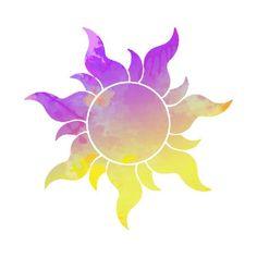 'Tangled Sun inspired silhouette' Sticker by InspiredShadows - Trend Parks Disney 2020 Disney Rapunzel, Rapunzel Sun, Tangled Sun, Rapunzel Room, Pascal Tangled, Rapunzel Tattoo, Disney Tangled Tattoo, Disney Kunst, Disney Art