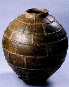 Antique ceramic pot from Galicia, Spain
