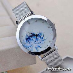 44 Lei (-56%) Ceas Dama Quartz Blue Bloom. Comanda aici: http://www.swisstime.ro/ceas-dama-quartz-blue-bloom.html
