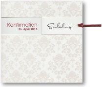 Konfirmationseinladungskarte mit rotem Kuvert
