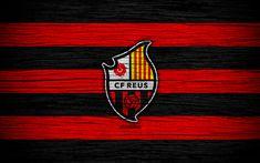Download wallpapers Reus Deportiu FC, 4k, Segunda Division, soccer, football club, Spain, CF Reus Deportiu, logo, LaLiga2, wooden texture, FC Reus Deportiu